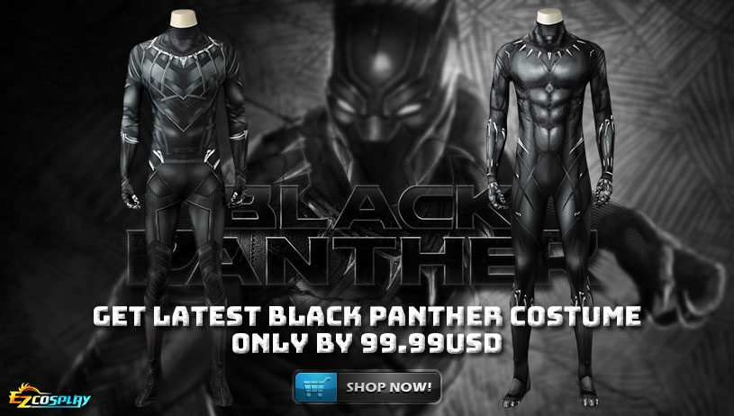 Get Latest Black Panther Costume only by 99.99USD