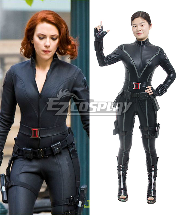 Image of 2014 New Captain America 2 Avengers Black Widow Natasha Romanoff Cosplay Costume Tight Sexy Jumpsuit Cosplay Costume