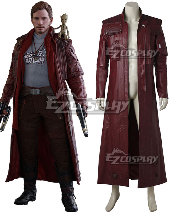 Marvel Guardians of the Galaxy Vol. 2 Movie Star-Lord Peter Jason Quill Coat Cosplay Costume None