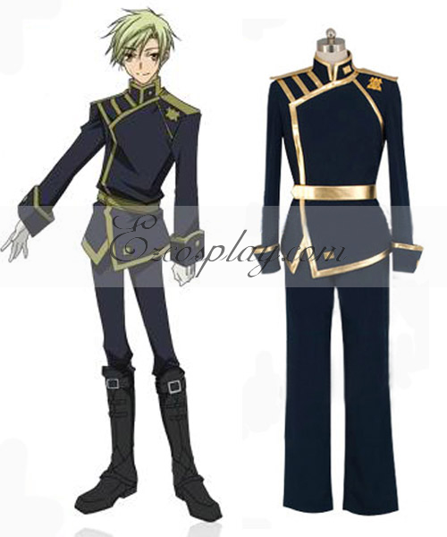 Image of 07-Ghost Mikage Barsburg Empire Uniform Cosplay Costume