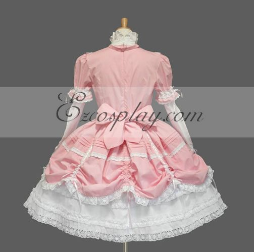 Vintage pink dress in lolita style  Size 42-44  70s